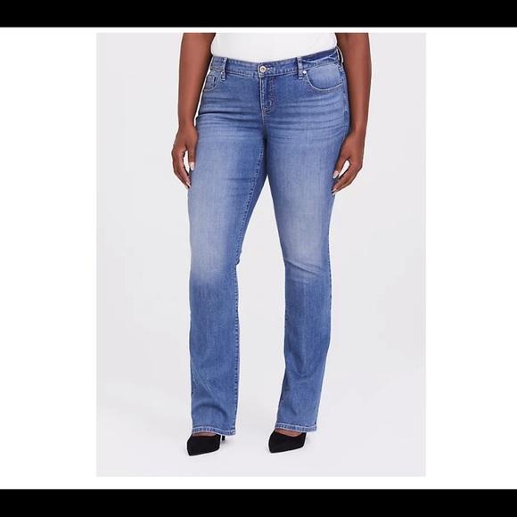 Torrid slim boot jeans vintage stretch light wash